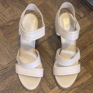 Nine West nude sandals